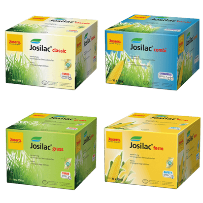 JOSILAC boxes classic, combi, grass and ferm