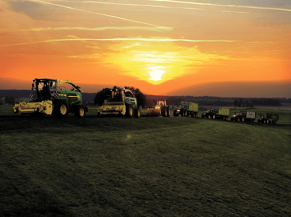 JOSILAC Tractors in the sunset